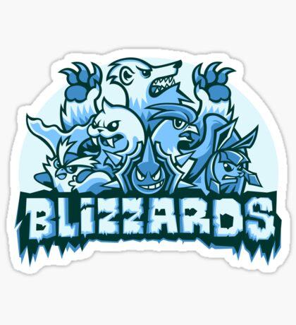 Team Ice Types - Blizzards Sticker