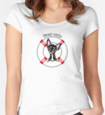 Chihuahua Smooth Black/Tan :: First Mate Women's Fitted Scoop T-Shirt
