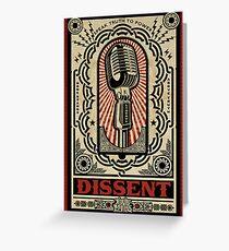 Dissent Greeting Card