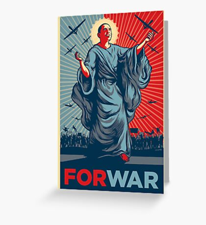 Obama FORWAR Greeting Card