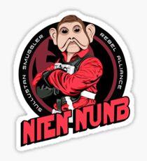 Star Wars Sullustan Smuggler Nien Nunb Crest  Sticker