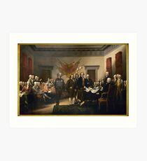 Declaration Of Independence Gas Art Print
