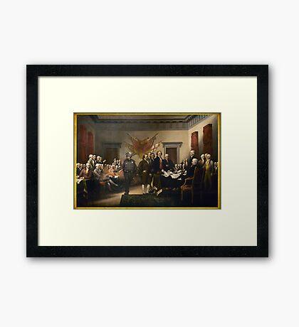 Declaration Of Independence Gas Framed Print