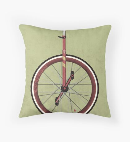 Unicycle Throw Pillow