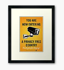 Privacy Free Country Framed Print