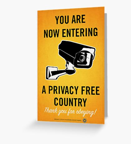 Privacy Free Country Greeting Card