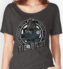 TIE Pilot Crest Women's Relaxed Fit T-Shirt
