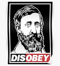 "Henry David Thoreau ""Disobey""  Poster"
