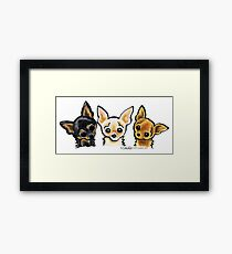 Smooth Chihuahua Trio Framed Print