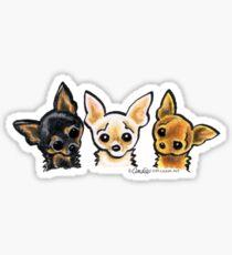 Smooth Chihuahua Trio Sticker