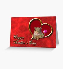 Mother's Day Squirrel Greeting Card