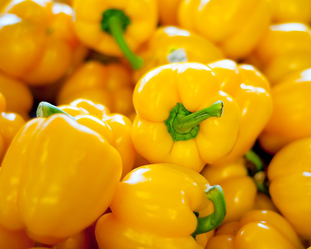 Yellow Bell Peppers by Jim Semonik