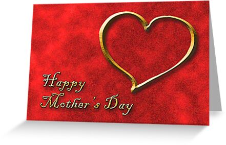 Mother's Day Golden Heart by jkartlife