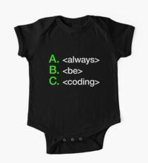Always Be Coding Kids Clothes