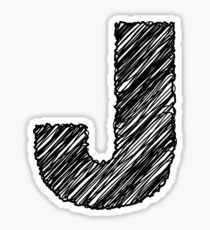 Sketchy Letter Series - Letter J Sticker