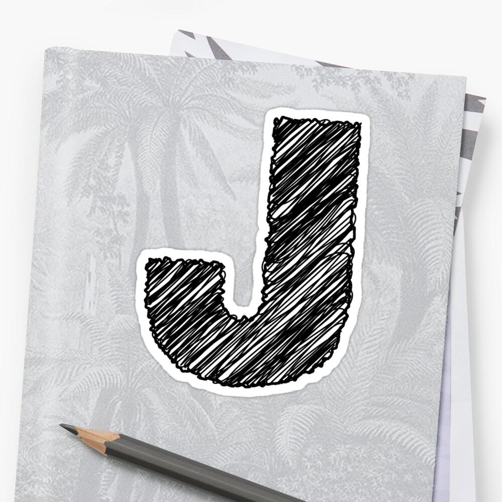 Sketchy Letter Series - Letter J by JHMimaging