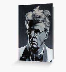 W.B. Yeats Greeting Card
