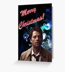 Christmas Castiel! Greeting Card