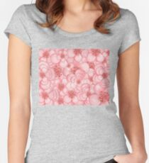 Pink Flower Cloud Women's Fitted Scoop T-Shirt