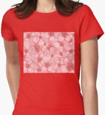 Pink Flower Cloud Womens Fitted T-Shirt