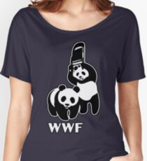 WWF (black and white ) Women's Relaxed Fit T-Shirt
