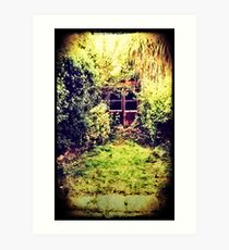 The Shed at the End of the Garden Art Print