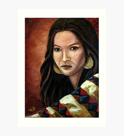 The Southwest Blanket Art Print