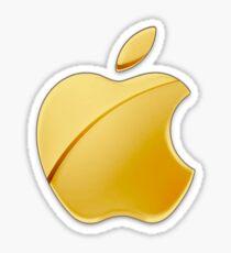 Gold Apple Sticker
