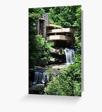 Falling Water Greeting Card