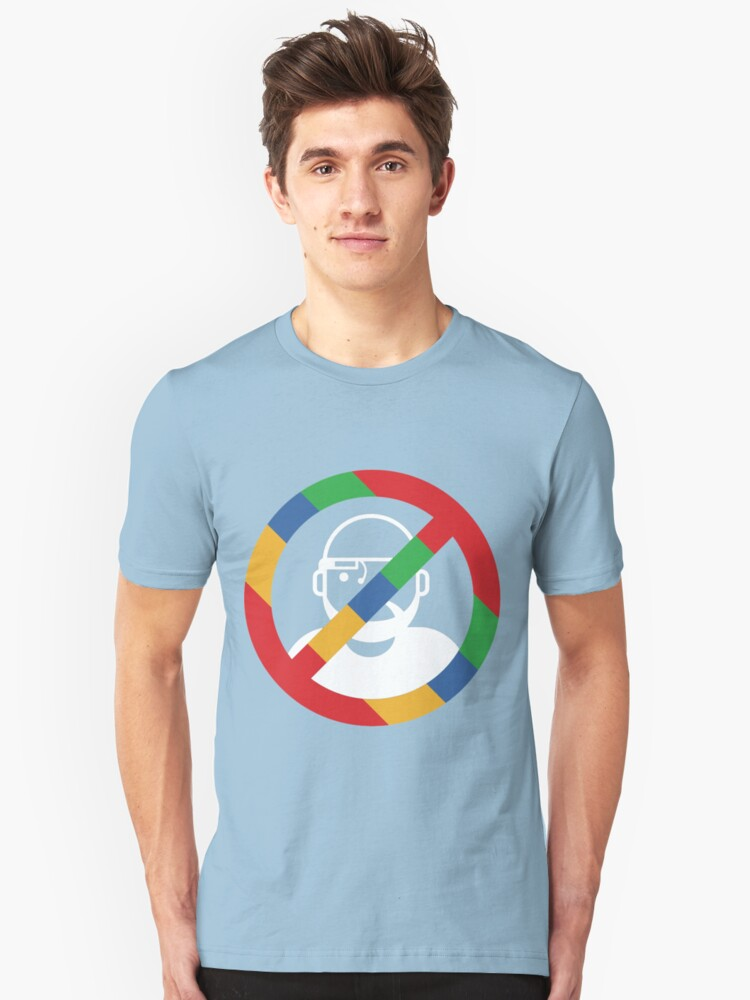 Stop the cyborgs logo (white) Unisex T-Shirt Front