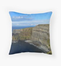 Enormity of the Cliffs of Moher Throw Pillow