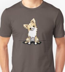Longhaired Fawn/White Chihuahua Sit Pretty T-Shirt