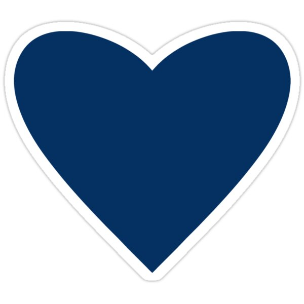 """""""Navy Blue Heart"""" Stickers by M Studio Designs   Redbubble"""