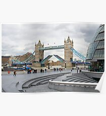 Tower bridge over the river Thames in London Poster