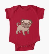 Pug Puppy Cartoon One Piece - Short Sleeve