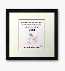 pinky and the brain insanity  Framed Print