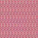 Vintage Baroque Pink Floral Wallpaper by pjwuebker