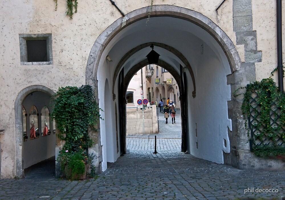 Salzburg Passageway by phil decocco