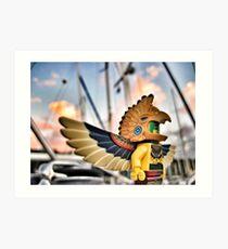 Bird-man (1 of 3) Art Print