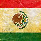 Mexico Flag in Grunge by pjwuebker