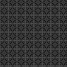 Gray Baroque Pattern on Black by pjwuebker