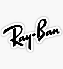 Ray Bans Logo (Graphic Tee) Sticker