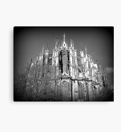 The many spires of Cologne Dome. Canvas Print
