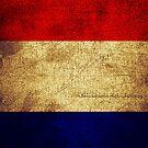 France Flag in Grunge by pjwuebker