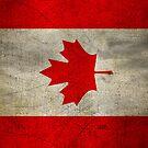 Canada Flag in Grunge by pjwuebker