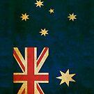 Australia Flag in Grunge by pjwuebker