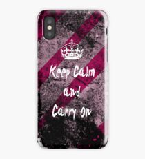 Keep Calm and Carry On Grunge iPhone Case iPhone Case