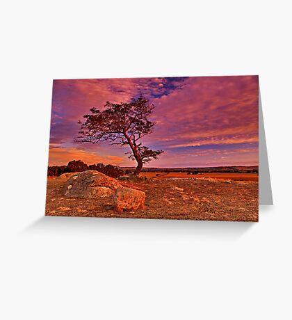 """Solitude At Sundown"" Greeting Card"
