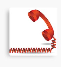 red telephone Canvas Print