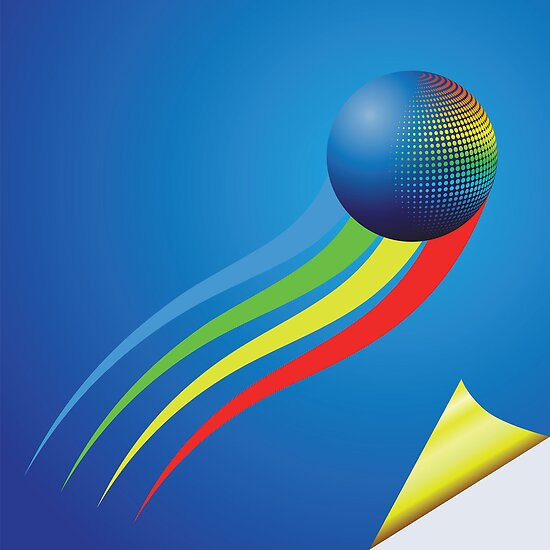 blue background and color sphere by valeo5